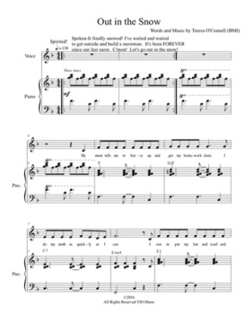"""""""Out in the Snow"""" Digital Sheet Music and Digital Backing Track"""