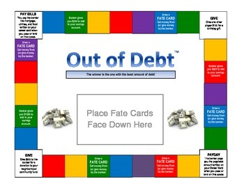 Out of Debt Gameboard