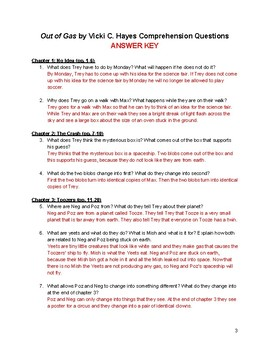 Out of Gas by Vicki C. Hayes Comprehension Questions