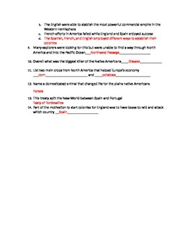 Out of Many a History of American People Reading Quiz APUSH Chapter 2