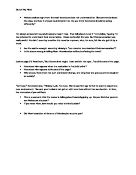 Out of Mind - Guided Reading Questions