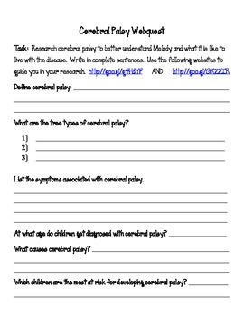 classroom accommodations for students with cerebral palsy