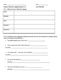 Out of My Mind Figurative Language Worksheet