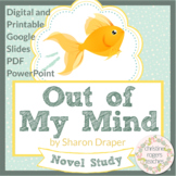 Out of My Mind by Sharon Draper Novel Study, Digital and P