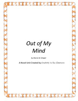 Out of My Mind Novel Unit Plus Grammar