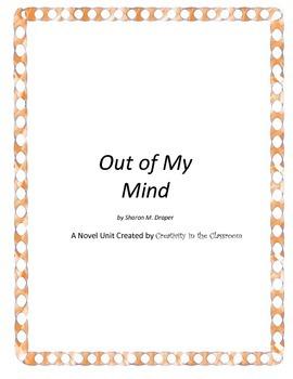 Out of My Mind Novel Unit Plus Grammar