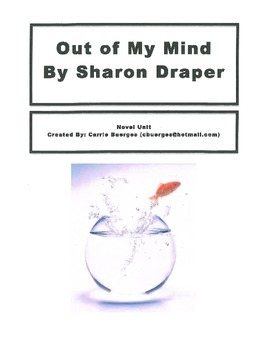 Out of My Mind Novel Unit with chapter questions, quizzes and skill sheets