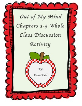 Freebie: Out of My Mind Discussion Activity for Chapters 1-3