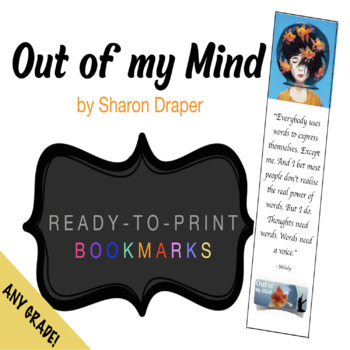 Out of My Mind (ready to print) BOOKMARKS!