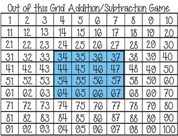 Out of This Grid Number Grid Game