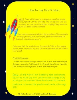 Out of This World Classifying Triangles by Sides Mini Unit