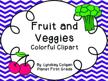 Out of This World Clipart: Bright Fruits and Vegetables
