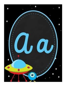 Alphabet Posters [Space Theme]