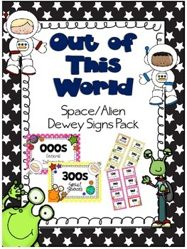 Out of This World Dewey Dewey Signs Pack