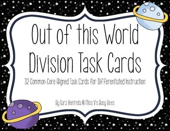 Out of This World - Division Task Cards