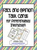 Fact and Opinion Posters Task Cards and Game