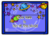 Out of This World Math Certificate