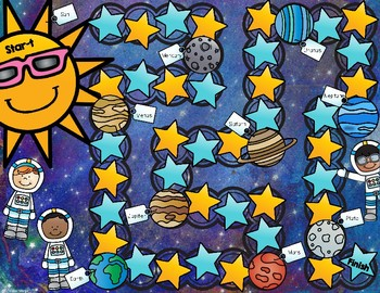 Out of This World Multiplication Facts Board Games