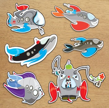 Out of This World Rocket Fish Valentines for Teachers