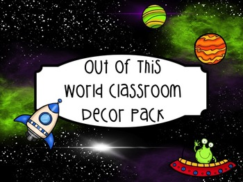 Out of This World Space Themed Decor and Management Tools