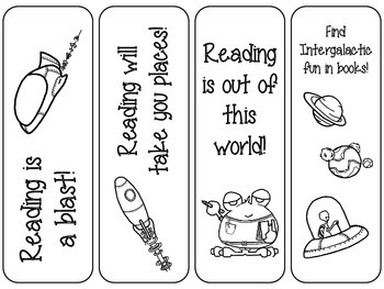 Out of This World Space/Alien Bookmarks