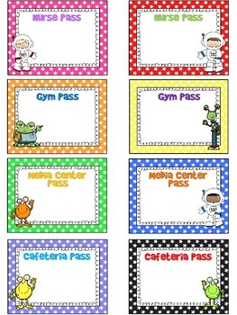 EDITABLE Out of This World Space/Alien Classroom Passes