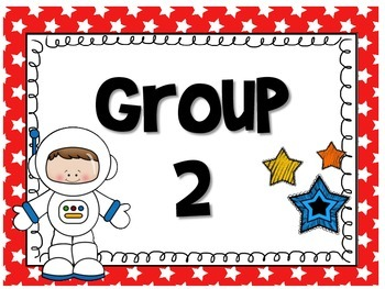 Out of This World Space/Alien Group/Table Signs