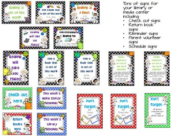 Out of This World Library Media Center Pack {NOW with EDITABLE signs}