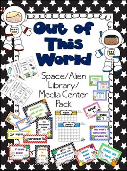 Out of This World Library Media Center Pack {NOW with EDIT