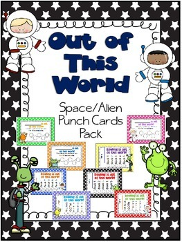 Out of This World Space/Alien Punch Card Pack