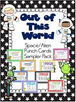Out of This World Space/Alien Punch Card Sampler