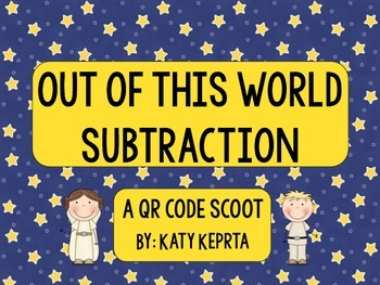 Out of This World Subtraction QR Scoot