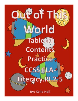 Out of This World Table of Contents Practice