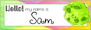 Out of This World Watercolor Editable Nameplates