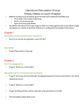 Out of my Mind Novel Study- Student Guide