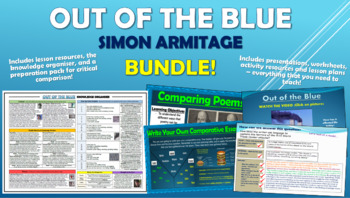 Out of the Blue (9/11 Poem) - Simon Armitage - BUNDLE!