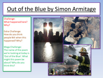 Out of the Blue - Simon Armitage