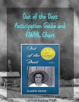 Out of the Dust Anticipation Guide and KWHL Chart