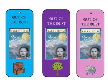 Out of the Dust Bookmarks