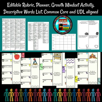 Out of the Dust Character Flip Book Interactive Pages, Rubric, Planner and More