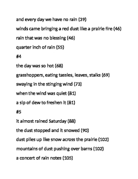 Out of the Dust--Dust Journal Weather