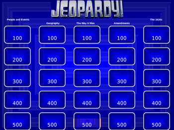 Out of the Dust/Early 1900s Jeopardy