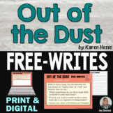 Out of the Dust FREE-WRITES - Journal-style Writing Prompts
