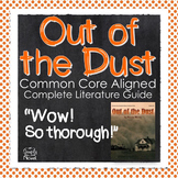 Out of the Dust Unit Lessons, Questions, Novel Study PACKET | DISTANCE LEARNING