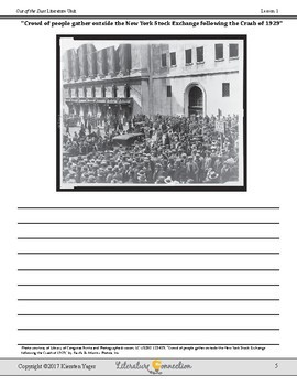 Out of the Dust Literature Unit with a Study of the Great Depression