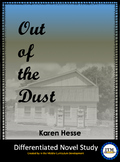 """""""Out of the Dust"""" Novel Study"""