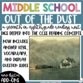 Out of the Dust Novel Study Reading Unit for Middle School