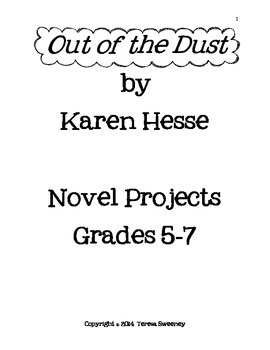 Out of the Dust Project Ideas and Handout