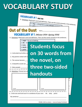 Out of the Dust - Novel Unit Common Core Aligned
