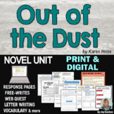 Out of the Dust - Novel Study Unit - Print & Digital for Distance Learning